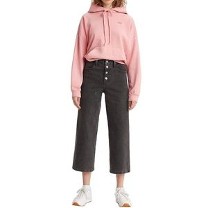 LEVI'S Mile High Button Fly Wide Leg Cropped Jeans